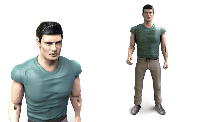 Joel Rush 3d printed action figure